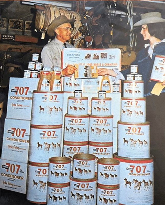 john ewing selling formula 707 in a tack store