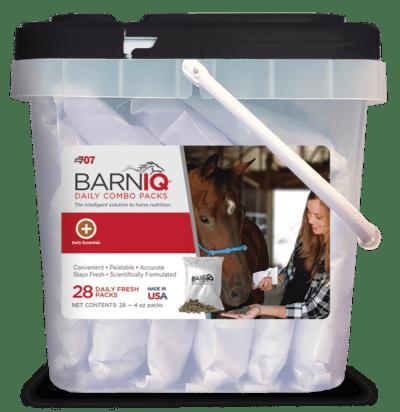 bucket of BarnIQ fresh packs with daily essentials