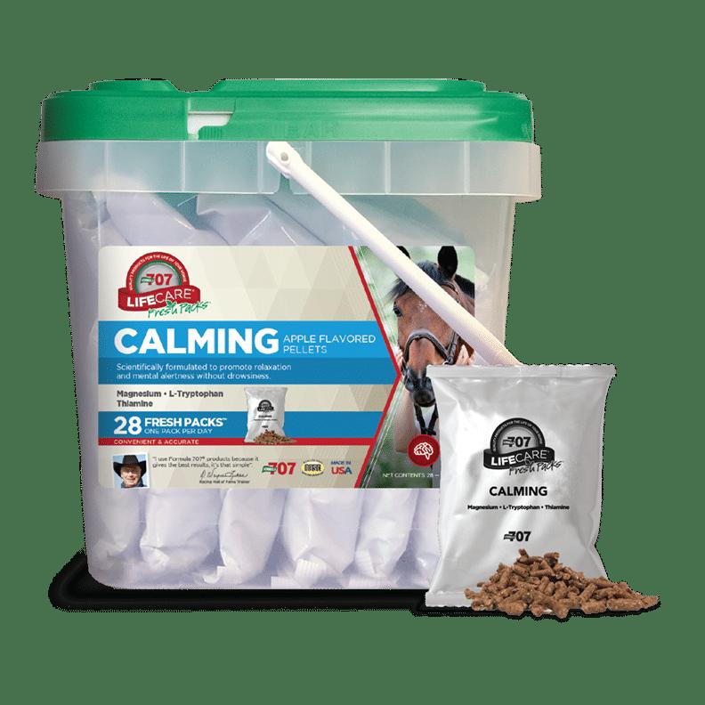 a bucket of calming fresh packs