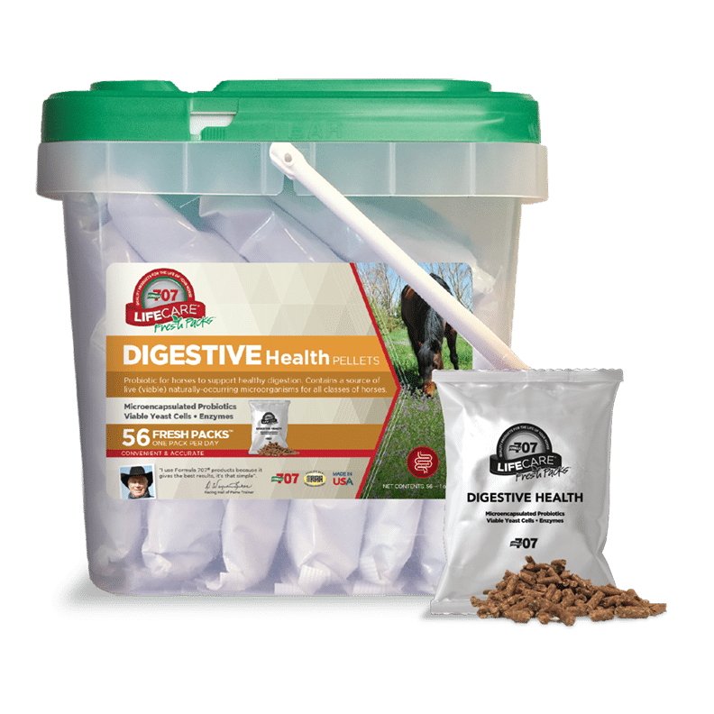 fresh pack in front of a bucket of Digestive Health