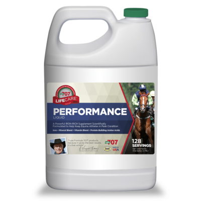white jug of performance liquid